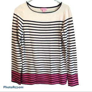 Lilly Pulizter Striped Sweater Large